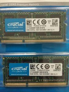 X220中古のメモリをCrucialのW3N1600CM-8Gで16GBレビュー感想 (1)